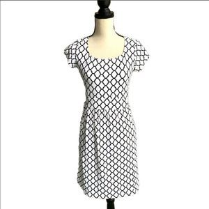 J. McLaughlin Emma Cap Sleeve Trellis Dress